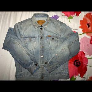 Burberry Brit denim blue jacket size Large